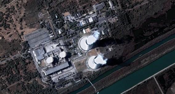 АЭС Нарора. Индия. Вид сверху