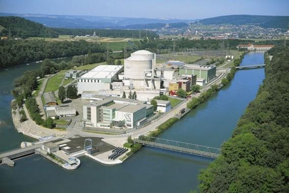 АЭС Безнау на искусственно созданном острове. Швейцария. Фото