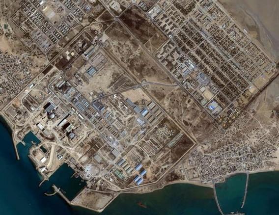 АЭС Бушер Иран. Снимок из космоса