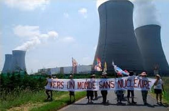 АЭС Дампьер. Акция противников атомной энергетики