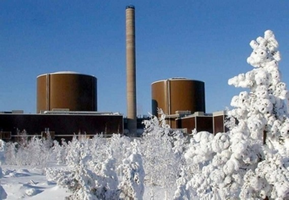 АЭС Loviisa в снегу Финляндия. Фото