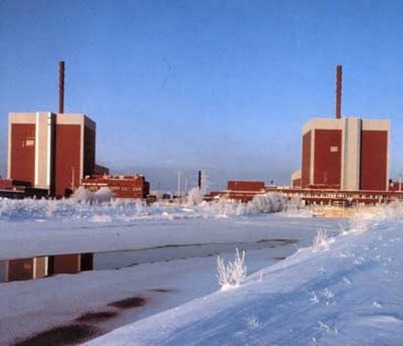 АЭС Olkiluoto зимой. Финляндия. Фото