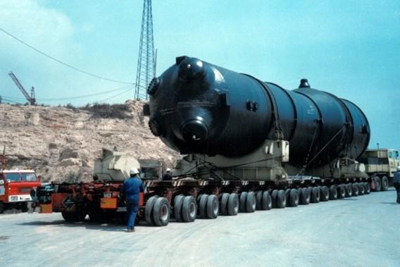 АЭС Ванделос вывоз оборудования с первого реактора. Фото