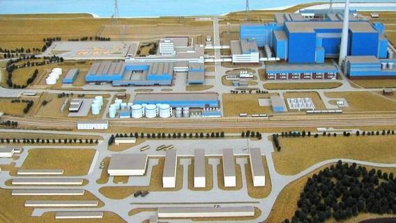 АЭС Жарновец Польша. Макет. Фото