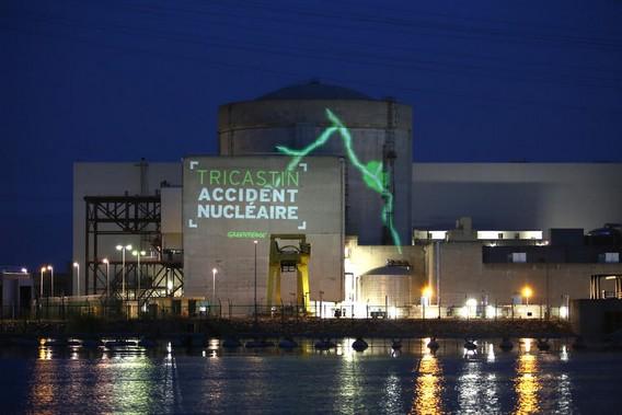 АЭС Трикастин Гринпис Франция. Фото