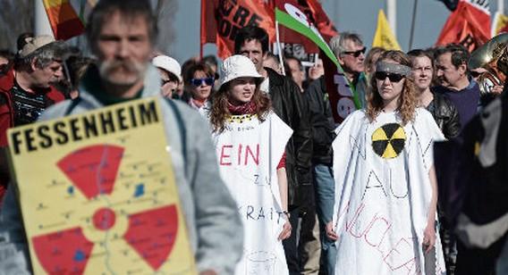 Акция Гринпис в поддержку закрытия AES Фессенхайм