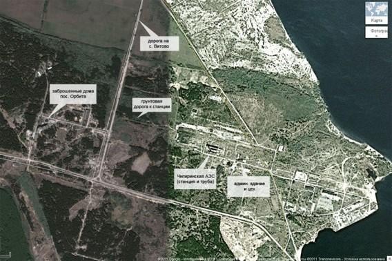 Чигиринская АЭС карта спутник