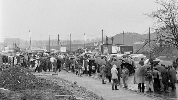Демонстрация 1975 года против строительства АЭС Гесген. Швейцария
