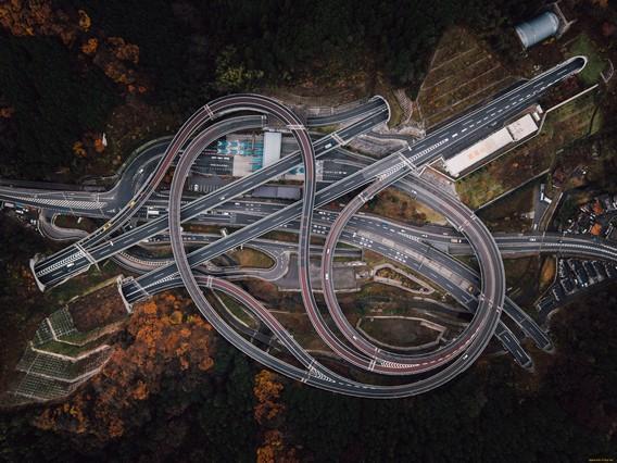 Дорожная развязка в Японии