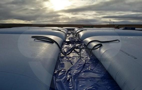 Эластичный полимерный резервуар для хранения нефтепродуктов