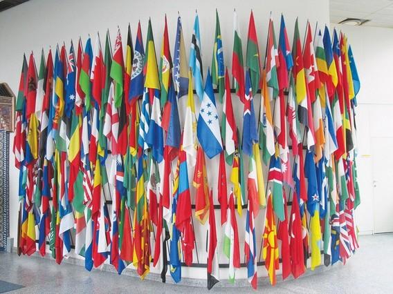 Флаги стран-участниц в штаб-квартире в Вене