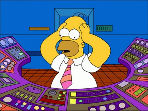 Гомер Симпсон на АЭС Спрингфилд. Симпсоны
