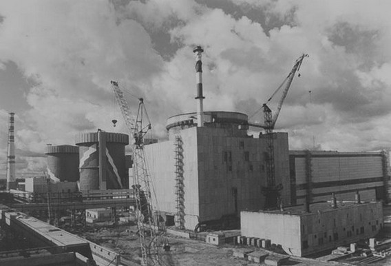 Калининская АЭС - строительство. Фото