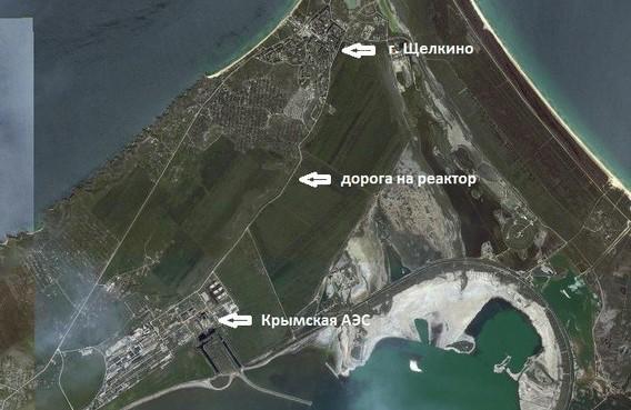 Крымская АЭС на карте