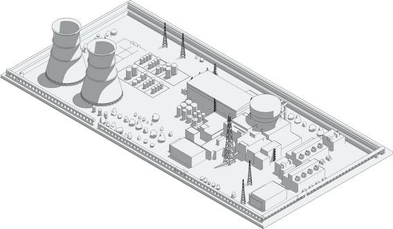 Макет АЭС Росатома