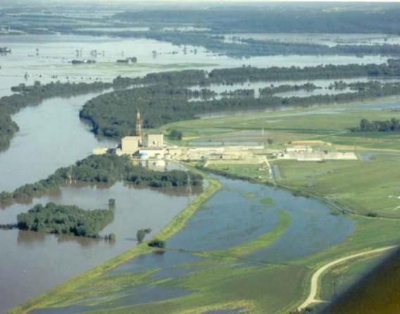 Наводнение на АЭС Купер. США. Фото