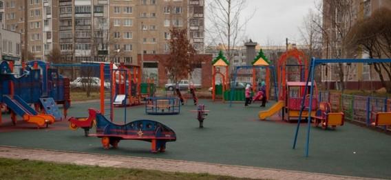 Новая детская площадка в Удомле от Калининской АЭС