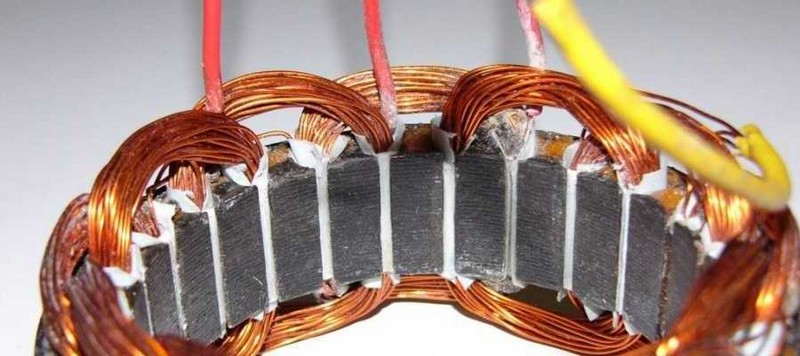 Обмотка статора электродвигателя