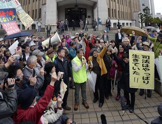 Протесты в Японии против запуска АЭС Такахама