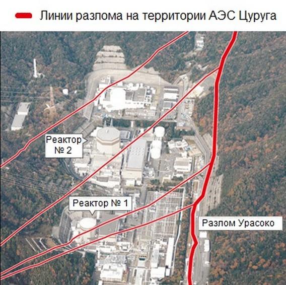 Разлом земной коры под АЭС Цуруга