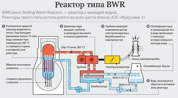 Реактор АЭС BWR - принцип работы