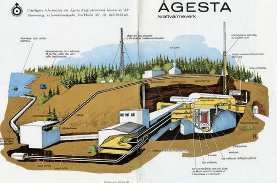 Схема первой АЭС Швеции - Аджеста