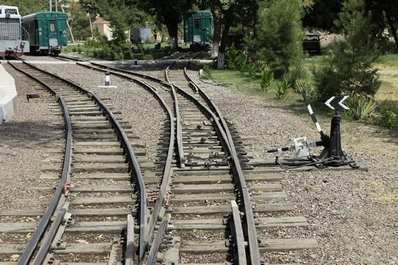 Стрелочный перевод на железной дороге
