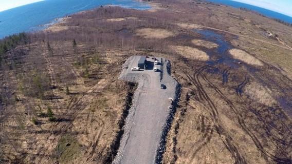 Строительство дороги к будущей АЭС Ханхикиви. Финляндия