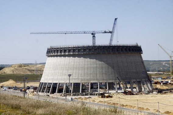 Строительство градирни Нововоронежской АЭС-2