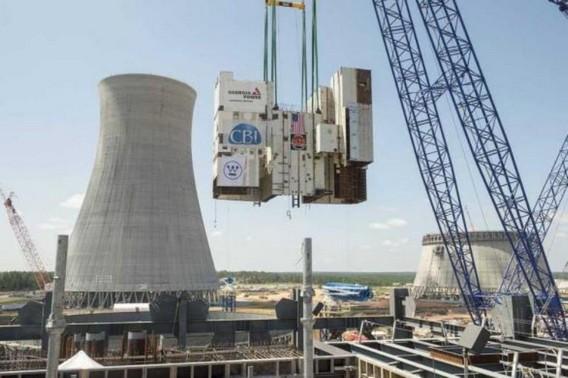 Строительство третьего реактора на АЭС Вогтль. США. Фото