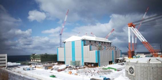 Строящаяся АЭС Ома. Япония. Фото