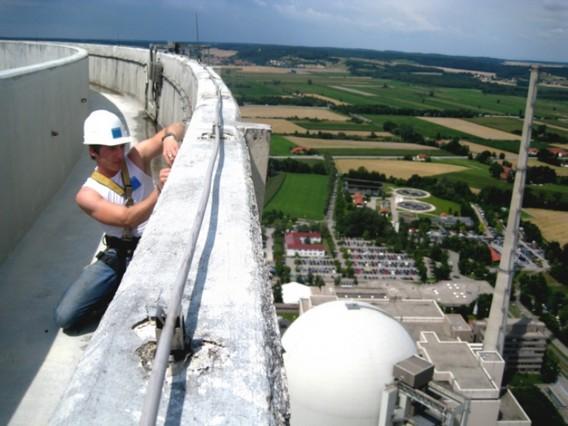 Вид с высоты градирни АЭС Изар
