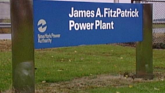 Вывеска у входа к АЭС Фицпатрик в США. Фото