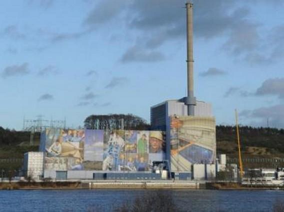 Закрытая АЭС Крюммель. Германия. Фото